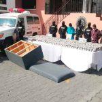 Policía hondureña decomisa 409 paquetes de marihuana en una ambulancia