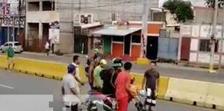 Momento que encaran a un presunto ladrón en Managua