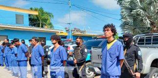 14 sujetos detenidos por delitos de alta peligrosidad en Masaya / FOTO / TN8