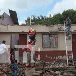 Vivienda cuyo techo se derrumbó en la ciudad de León