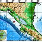 Imagen de INETER sobre temblor en el Pacífico de Nicaragua