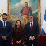 Ministros del Gobierno en Venezuela se reunió con la embajadora de Nicaragua