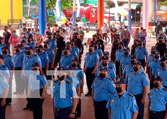 Ascienden a 81 oficiales de la Policía Nacional en Chinandega