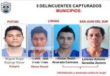 Detienen a hombres que cometieron delitos contra la mujer en Rivas