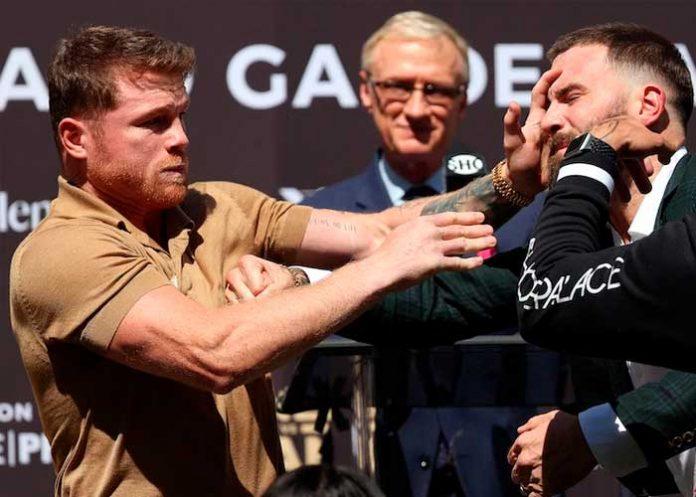 Canelo Álvarez y Caleb Plant no pudieron esperar el 6 de noviembre para pelear.