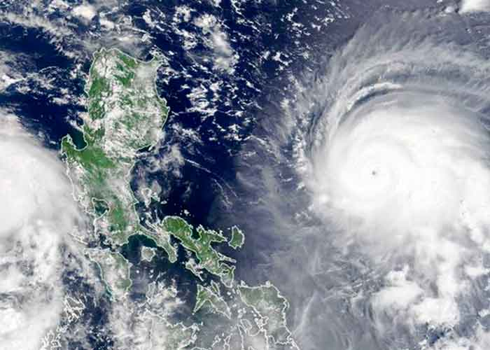 El tifón el Chanthu, rozó la punta meridional del archipiélago filipino
