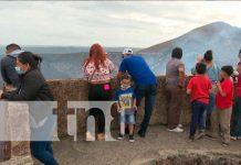 Familias visitan Volcán Masaya y disfrutan de su bellezas naturales