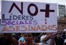 Asesinan a cinco líderes sociales en un día en Colombia