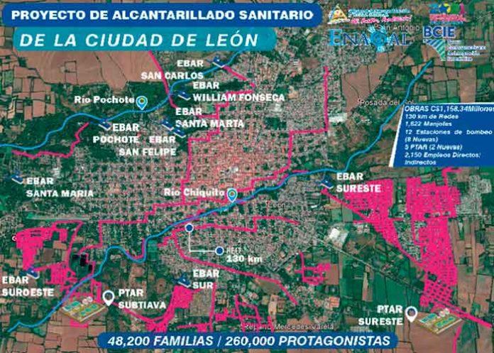 ENACAL inicia mejoras y ampliación de sistema de saneamiento en León