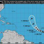 Se forma la depresión tropical 20 en el Atlántico