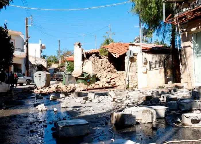 Isla de Creta sufre más de 50 réplicas, incluido un sismo de magnitud 5,3