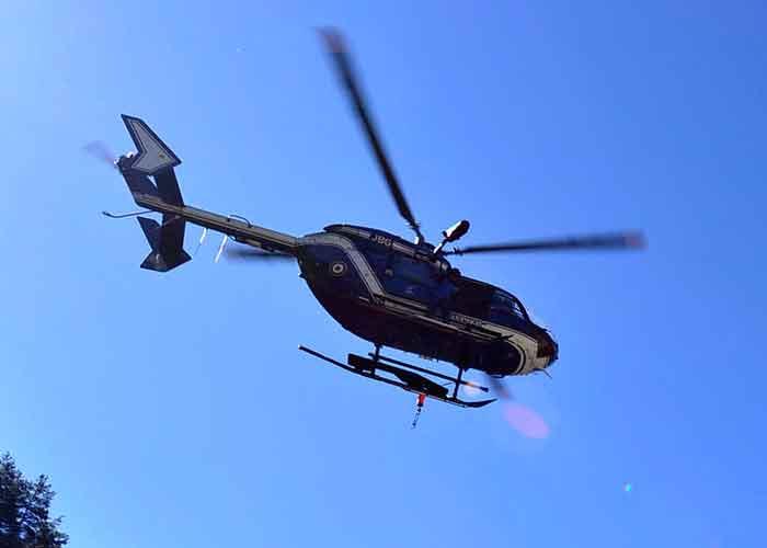 El helicóptero se dirigía a la zona de Villars de Lans