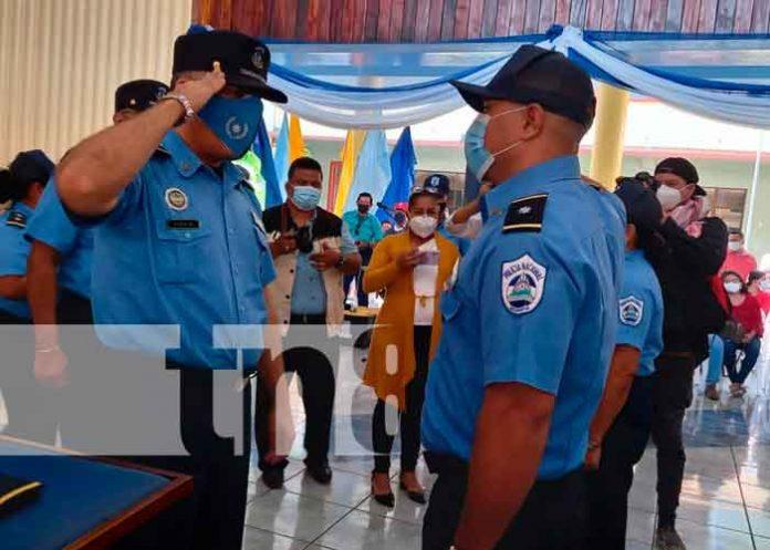 Policía Nacional realiza ascenso en grado a 70 oficiales en Masaya