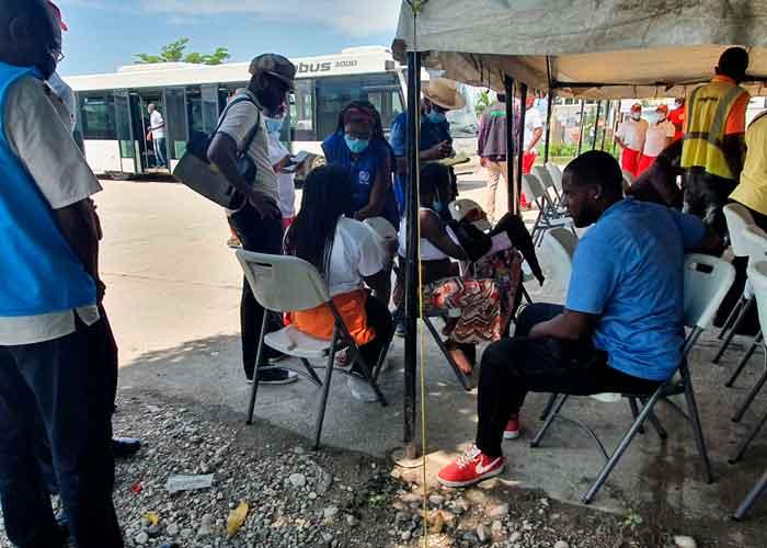 Gran parte de los migrantes que están bajo el puente en la localidad Del Río en Texas (EE.UU.) son haitianos