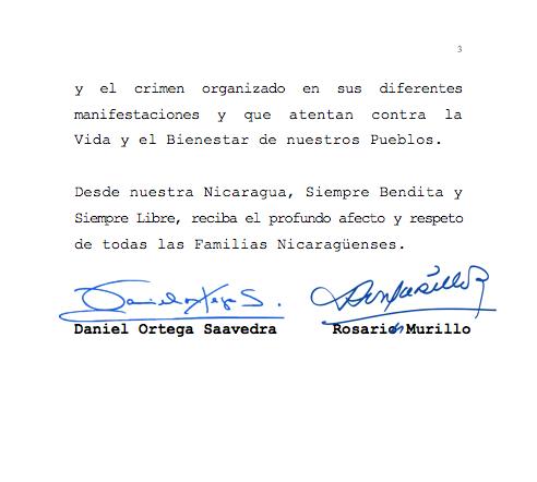 Nicaragua felicita a El Salvador por el Bicentenario de la Independencia