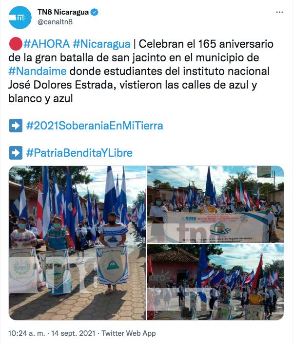 Foto: Nandaime celebran el 165 aniversario de la Batalla de San Jacinto