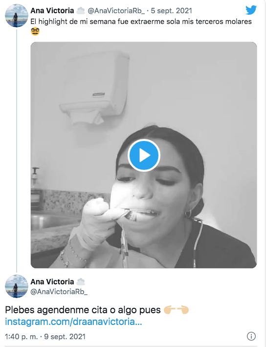 Ana Victoria se saca las muelas de juicio