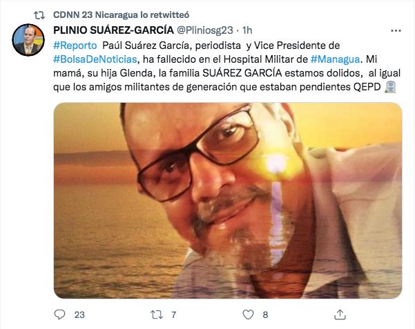 Fallece Paúl Suárez García, vicepresidente de Bolsa de Noticias y CDNN23