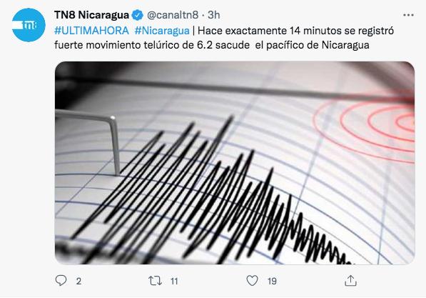 Sismo en Nicaragua