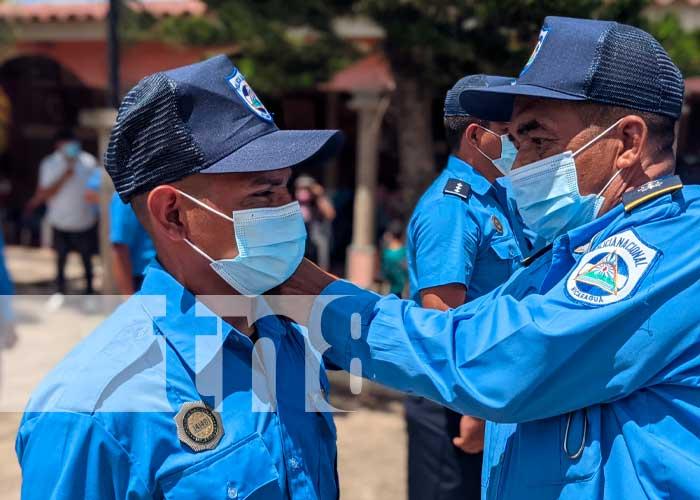 Nuevos agentes de la Policía Nacional son ascendidos en Madriz