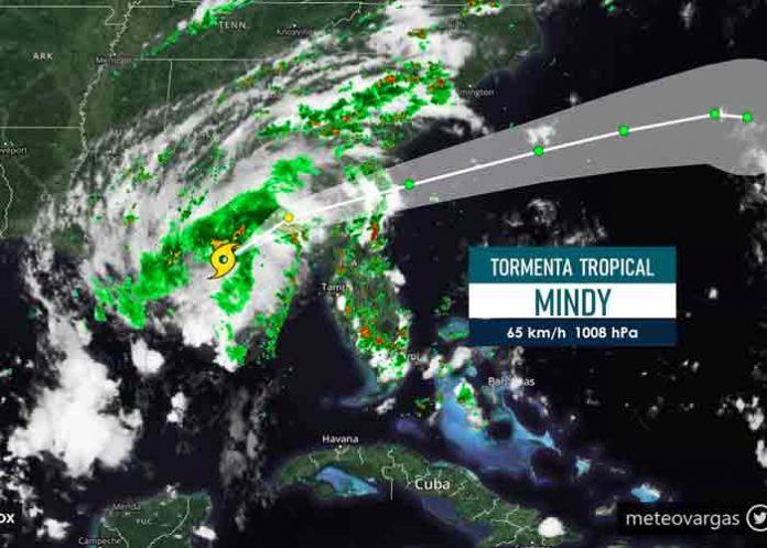 Se forma tormenta tropical Mindy al noreste del Golfo de México