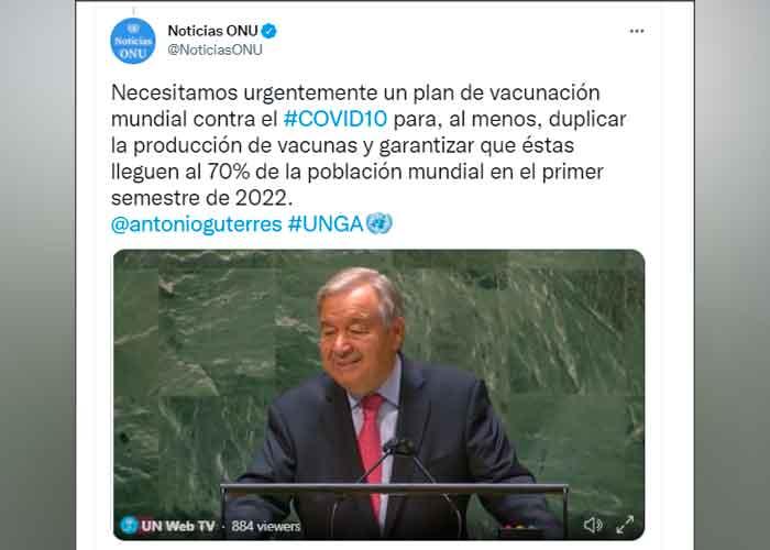 """ONU: El mundo está ante un """"callejón sin salida"""" motivado por la Covid-19"""