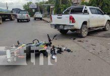 Motociclista gravemente lesionado en Juigalpa