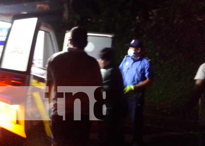 Escena del brutal accidente en Chontales donde un joven perdió un brazo
