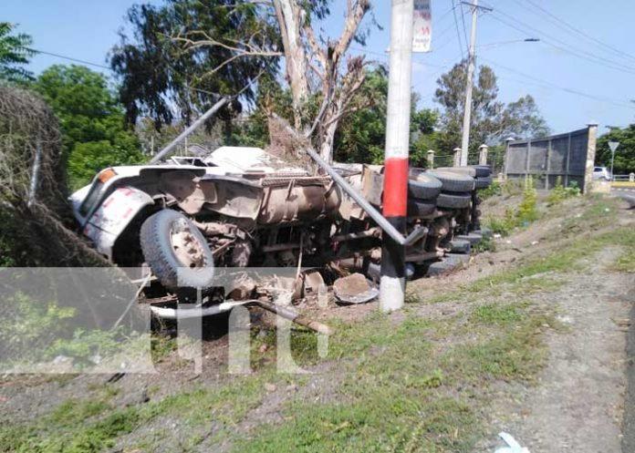 Escena de accidentes de tránsito en Nicaragua