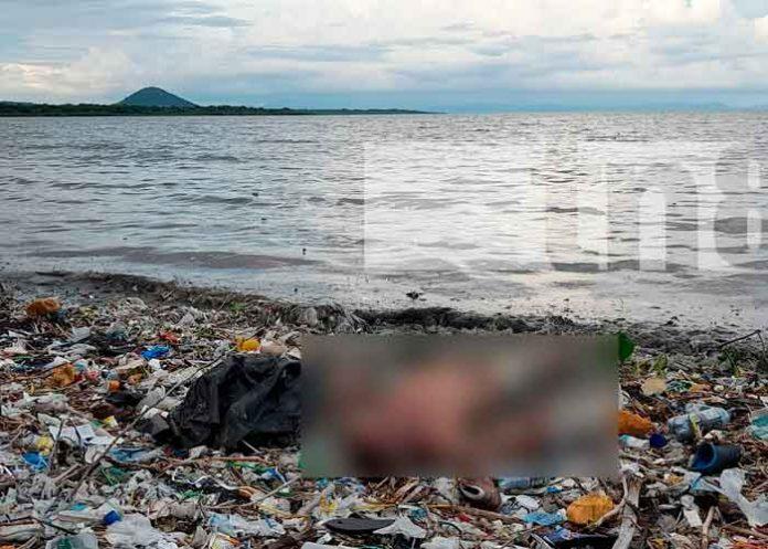 Investigan identidad de hombre cuyo cuerpo fue encontrado flotando a orillas del lago de Managua