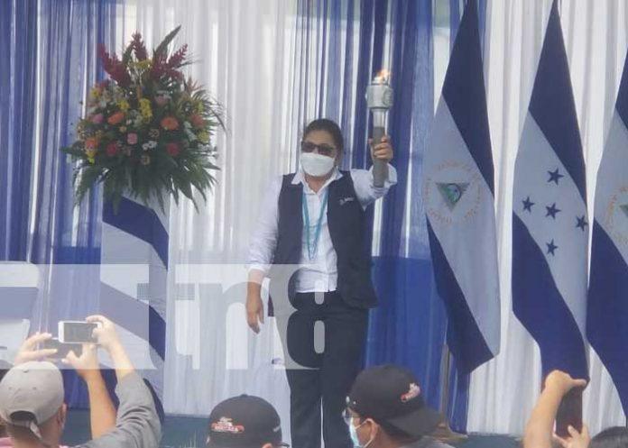 Acto por recibimiento de la Antorcha Centroamericana en Nueva Segovia, Nicaragua
