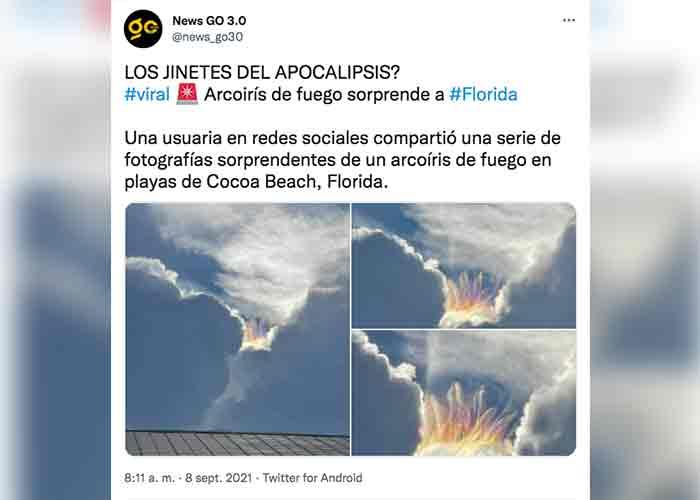 Viral: Arcoíris de fuego sorprende en las playas de Florida