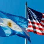 Banderas de Argentina y Estados Unidos