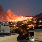 Incendio en Grecia cerca de Atenas