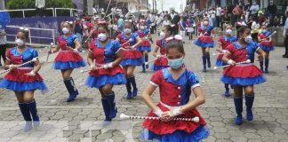 Presentan bandas y gimnasias rítmicas en Boaco
