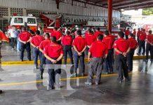 Capacitación a bomberos de Nicaragua