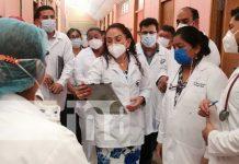 Asesora en temas de salud de visita en Matagalpa