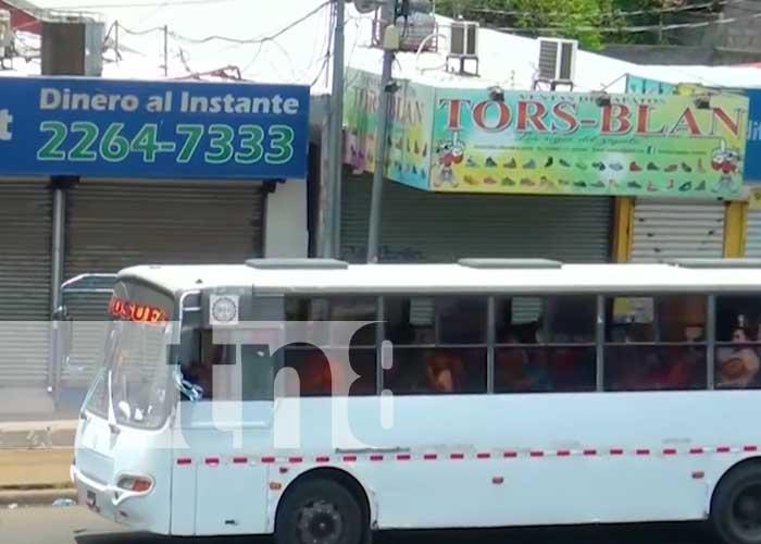 Sistema de transporte y de buses en Managua