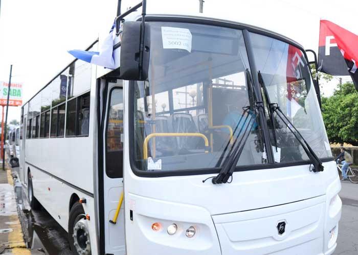 Flota de nuevos buses rusos para el transporte de Managua