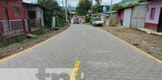 Inauguran 2 tramos de calles adoquinadas en Yalí, Jinotega