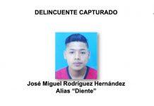 Presentación policial de sujeto que mató a un joven en Managua