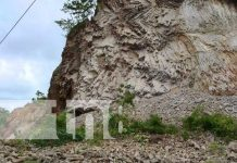 Derrumbe en el cerro El Rama causa susto en pobladores