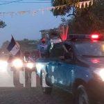 Policía Nacional en Chontales celebró su 42 aniversario con una alegre diana vehícular