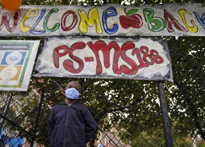 Imagen representativa del regreso a clases en Nueva York tras la pandemia