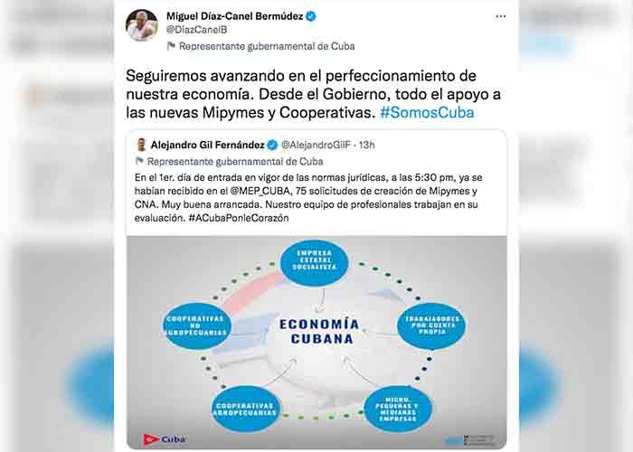 """Díaz-Canel: """"Seguiremos avanzando en el perfeccionamiento de la economía"""""""