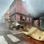 Daños en la infraestructura de un edificio tras el paso del huracán Ida