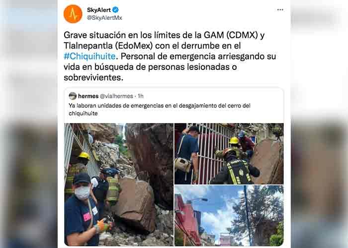 México: Un derrumbe del Cerro del Chiquihuite deja casas bajo escombros