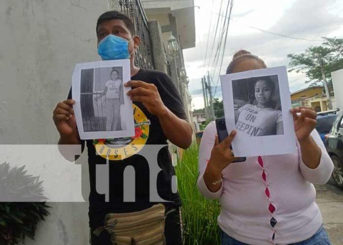 Padres desesperados buscan a su hija desaparecida en Managua