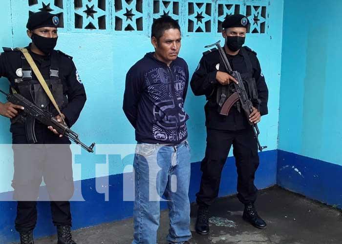 Policía Nacional captura a homicida en Jinotega