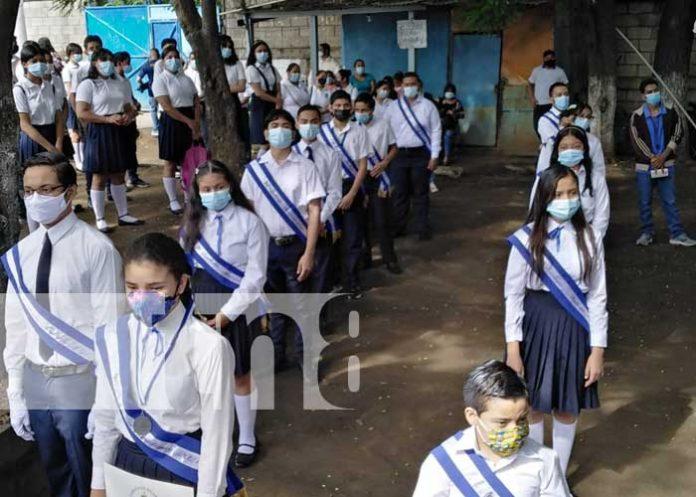 Actos en colegios de Nicaragua para conmemorar la Independencia de Centroamérica